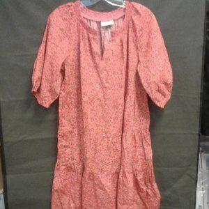 Women's Floral Print Puff Elbow Babydoll Dress